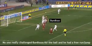 Burdisso's goal.
